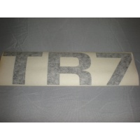 'TR7' rear transfer black - right side of boot lid
