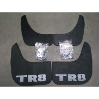 TR8 Mudflaps - set of 4 inc fittings